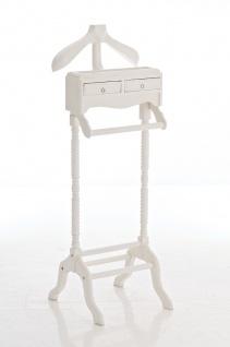 Herrendiener CP311, Kleiderständer Garderobenständer weiß
