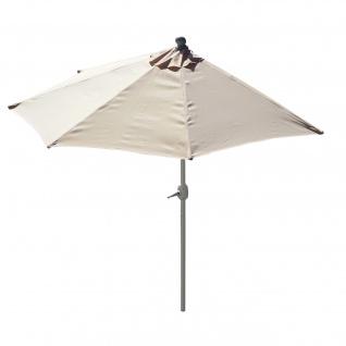 Sonnenschirm halbrund Parla, Halbschirm, UV 50+ Polyester/Alu 3kg ~ 270cm creme ohne Ständer