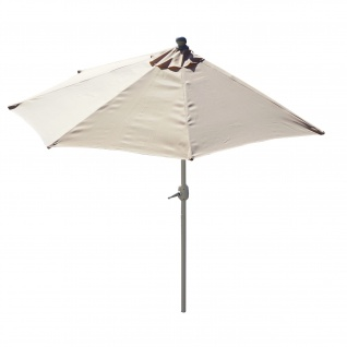 Sonnenschirm halbrund Parla, Halbschirm Balkonschirm, UV 50+ Polyester/Alu 3kg ~ 300cm creme ohne Ständer