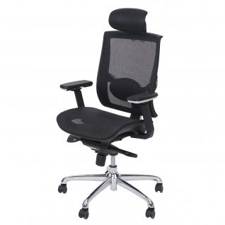 Bürostuhl HWC-A55, Schreibtischstuhl Drehstuhl, Kunstleder Textil ISO9001 schwarz