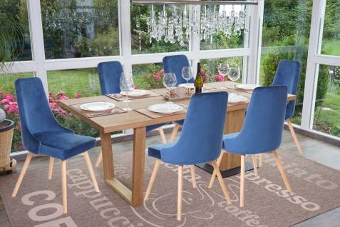6x Esszimmerstuhl HWC-B44, Stuhl Küchenstuhl, Retro 50er Jahre Design Samt - Vorschau 2