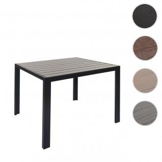 Gartentisch HWC-F90, Bistrotisch, WPC-Tischplatte 90x90cm ~ braun