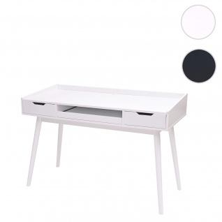 Schreibtisch HWC-A70b, Bürotisch Computertisch, MDF 120x55cm ~ weiß - Vorschau 1