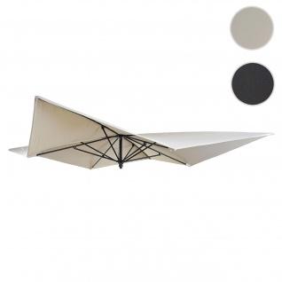 Bezug für Luxus-Sonnenschirm HWC-A37, Sonnenschirmbezug Ersatzbezug, 3x3m (Ø4, 24m) Polyester ~ creme