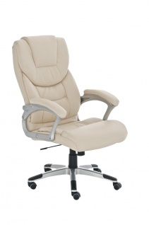 Bürostuhl CP227, Bürosessel Drehstuhl ~ creme