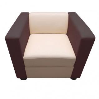 Sessel Lounge-Sessel Lille Kunstleder creme/coffee - Vorschau 2