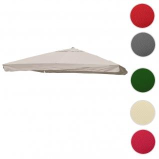 Bezug für Luxus-Ampelschirm HWC-A96 mit Flap, Sonnenschirmbezug Ersatzbezug, 3x3m (Ø4, 24m) Polyester 3kg ~ creme-grau