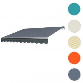 Alu-Markise HWC-E31, Gelenkarmmarkise Sonnenschutz 3x2, 5m ~ Acryl Grau