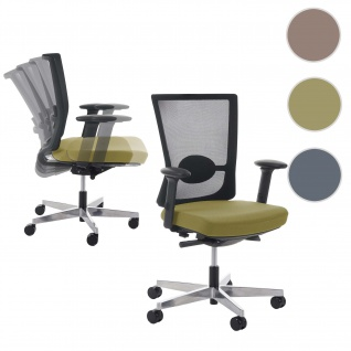 Profi Bürostuhl Belfast, Schreibtischstuhl Drehstuhl, ergonomisch olive