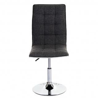 6x Esszimmerstuhl HWC-C41, Stuhl Küchenstuhl, Stoff/Textil hellgrau - Vorschau 4