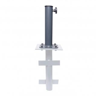 Ständer auf Bodenhülse HWC-A96, Schirmständer für Bodenanker/-platte/-montage Sonnen-/Ampelschirm, Metall Ø 38-48mm - Vorschau 1