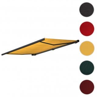 Bezug für Markise T122, Vollkassette Ersatzbezug Sonnenschutz 4x3m ~ Polyster gelb