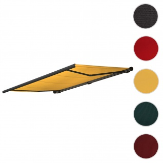 Bezug für Markise T123, Vollkassette Ersatzbezug Sonnenschutz 4, 5x3m ~ Polyester gelb