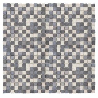 Steinfliesen Vigo T690, Marmor Naturstein-Fliese Quadrate, 11 Stück je 30x30cm = 1qm ~ grau-weiß - Vorschau 4