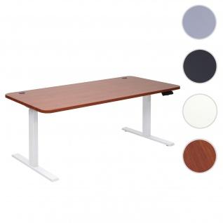 Schreibtisch HWC-D40, Bürotisch Computertisch, elektrisch höhenverstellbar Memory 160x80cm 53kg ~ natur, weiß