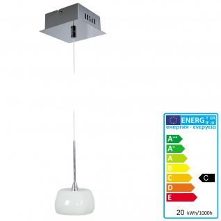 Pendelleuchte HW169, Deckenleuchte Hängeleuchte Deckenlampe, Glasschirm EEK C
