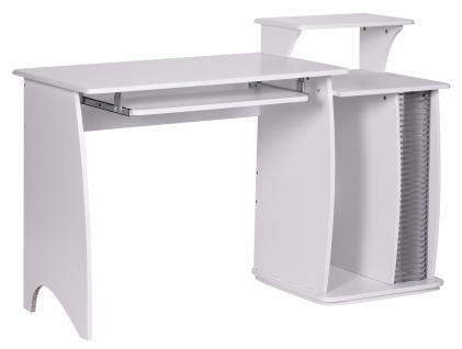 Computertisch A070, Schreibtisch Bürotisch, 130x87x76cm
