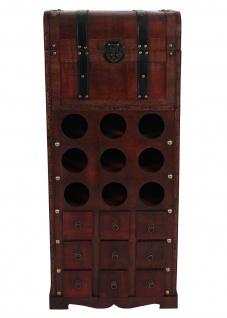 Weinregal Calvados T253, Flaschenregal Regal Holzregal für 9 Flaschen, Kolonialstil 104x45x38cm - Vorschau 4