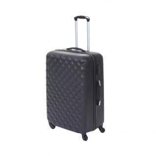 Koffer HWC-D54, Reisekoffer Hartschalenkoffer Trolley, 60x42x26cm 64l - Vorschau 3