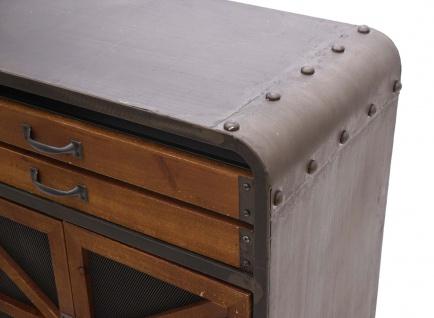 Sideboard HWC-F91, Kommode Schrank Highboard, Industrial Tanne Holz Metall 80x126x38cm, braun-schwarz - Vorschau 4