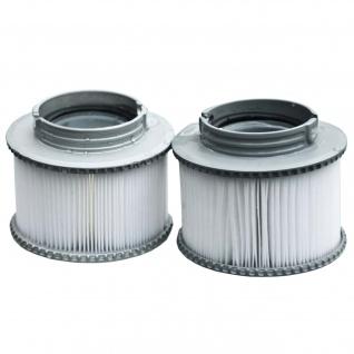 2x Wasserfilter für Whirlpool MSpa M-009LS/019LS HWC-A62, Ersatzfilter Filterkartusche, Zubehör - Vorschau 3