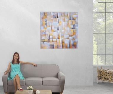Ölgemälde Cubes, 100% handgemaltes Wandbild Gemälde XL, 100x100cm - Vorschau 5