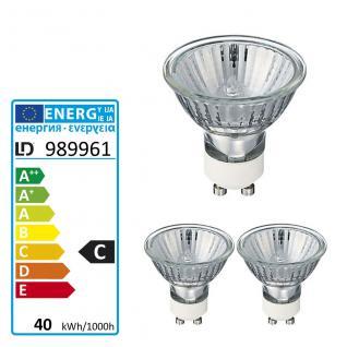 ECO-Halogen-Energiespar-Leuchtmittel GU10/40W v. Leuchten Direkt 3x