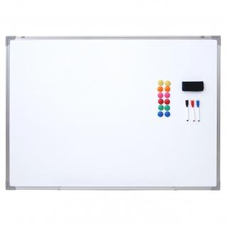 Whiteboard HWC-C84, Magnettafel Memoboard Pinnwand, inkl. Zubehör ~ 110x80cm