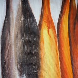 Ölgemälde Flaschen, 100% handgemaltes Wandbild Gemälde XL, 135x70cm - Vorschau 5