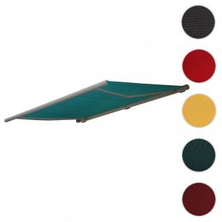 Bezug für Markise T123, Vollkassette Ersatzbezug Sonnenschutz 4, 5x3m ~ Polyester blau-grün