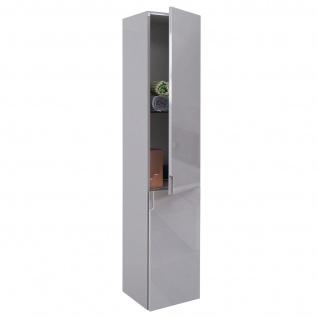 Hängeschrank HWC-B19, Midischrank Hochschrank Badezimmer Badmöbel, hochglanz 150x30cm - Vorschau 2