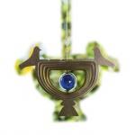 3D Windspiel HE26, Gartendeko Fensterdeko Dekohänger, Edelstahl 22x30cm, Vögel