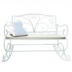Polsterauflage für Schaukelbank HWC-C39, Gartenbankauflage Sitzkissen Sitzpolster, creme