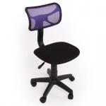 Kinder- und Jugend-Bürostuhl Schreibtischstuhl N30 Netzstruktur lila