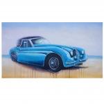 Ölgemälde Oldtimer, 100% handgemaltes Wandbild Gemälde XL, 140x80cm