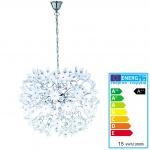 Reality|Trio LED-Pendelleuchte, 15W-LED, EEK A++, chrom, Acrylblüten weiß