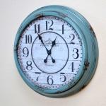 Wanduhr H03, Uhr, Shabby-Look Vintage, Ø59cm
