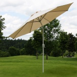 Sonnenschirm N18, Gartenschirm, Ø 2, 7m neigbar Polyester/Alu 5kg creme