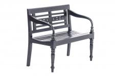 2er Sitzbank CP021, Bank Holzbank, Mahagoni, 100cm schwarz