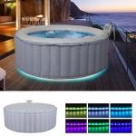 Whirlpool MSpa HWC-A62 Glow, 4 Personen In-/Outdoor LED heizbar aufblasbar Ø 180cm FI-Schalter