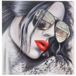 Ölgemälde Sonnenbrille, 100% handgemalt XL, 80x80cm