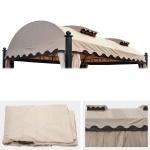 Ersatzbezug für Dach Pergola Pavillon Daroca 4, 5x3, 5m, creme