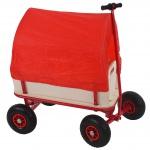 Bollerwagen Oliveira, mit Bremse, Dach rot