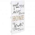 Wandschild Home, Holzschild Schild, Shabby-Look 60x30cm