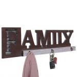 Wandgarderobe HWC-A91 Family, Garderobenpaneel, Landhaus Holz Metall