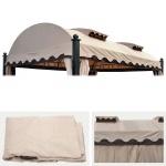 Ersatzdach für Pergola Daroca 4, 5x3, 5m, Dach Bezug Sonnenschutz, creme