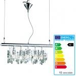 Reality|Trio LED-Pendelleuchte, EEK A++ 5-flammig, 72cm, 15W