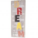 Wandschild Dream, Holzschild Dekoschild, Shabby-Look Vintage