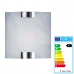 Trio LED-Wandleuchte, 3W-LED, EEK A++, Nickel matt, Glas weiss