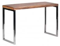 Schreibtisch Konya, Sekretär Wandtisch Anrichte Schminktisch, Akazie Massivholz, 76x120x45cm